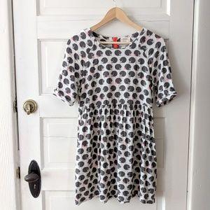Johnnie b black cat print dress 15-16y